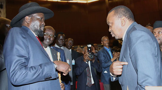Kiir and Kenyatta