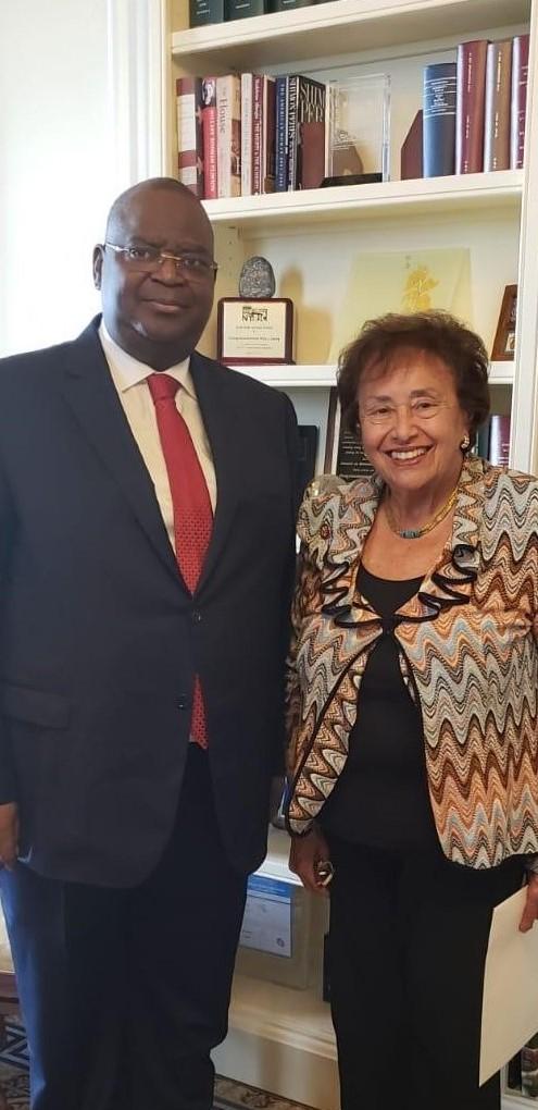 Ambassador Mombouli and Chairwoman Lowey.